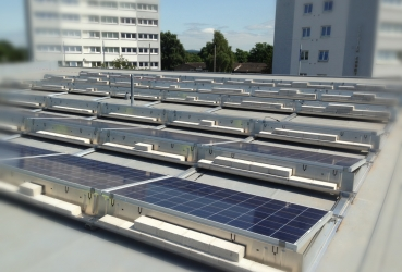 Large solar at Southampton docks